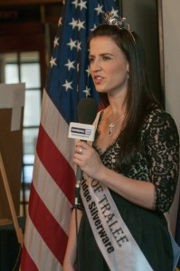 The Rose of Tralee visits The National Press Club, March 15, 2014.